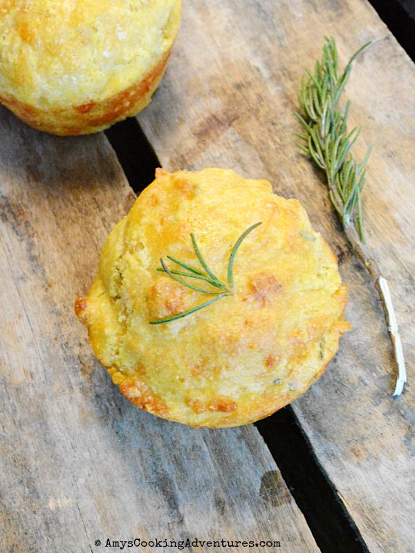 Rosemary Cheddar Cornbread Muffins #BloggerClue
