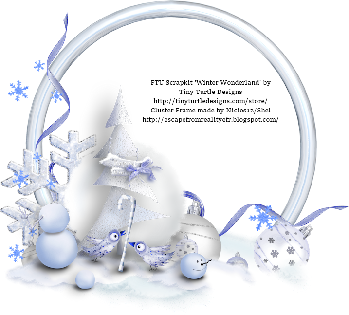 Escape From Reality Blog FTU Winter Wonderland Clusters