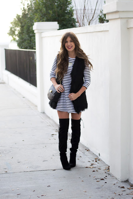 Ways To Style Over The Knee Boots with a Dress - Chasing Cinderella