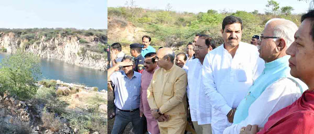 Chief Minister Manohar Lal visits the Barwal Lake area in Aravali mountain range