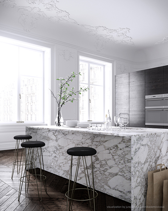 Contemporary eclectic kitchen | Talcik | Demonicova