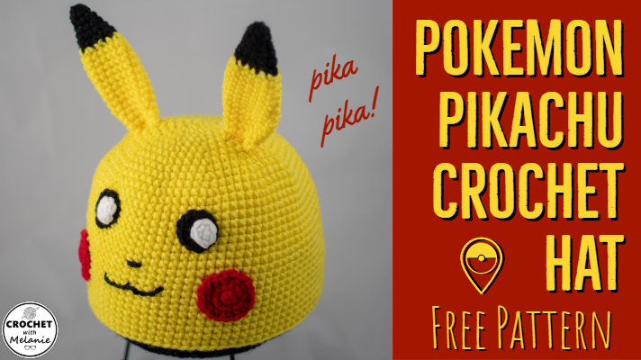 Pikachu Hat Free Crochet Pattern