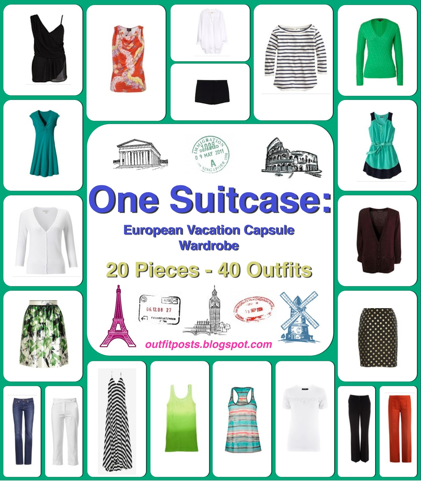 6bb7821cb444 one suitcase  european vacation capsule wardrobe