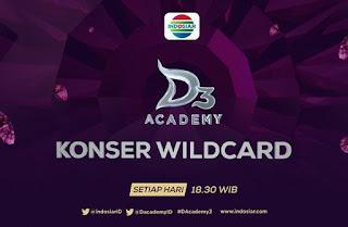 Jadwal Peserta Grup A Konser Wildcard D'Academy 3 Rabu tanggal 17 Februari 2016