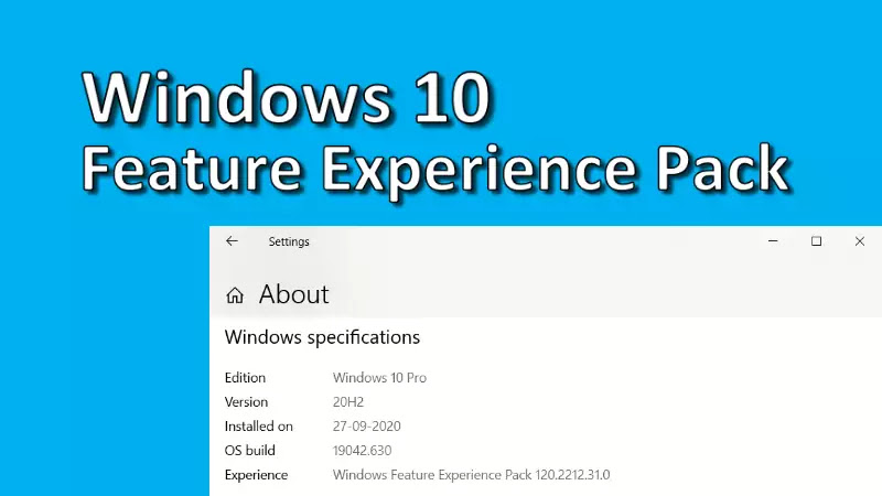 Latest Windows 10 Feature Experience Pack brings two improvements