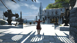 Crafter in sunny Limsa Lominsa from Final Fantasy 14