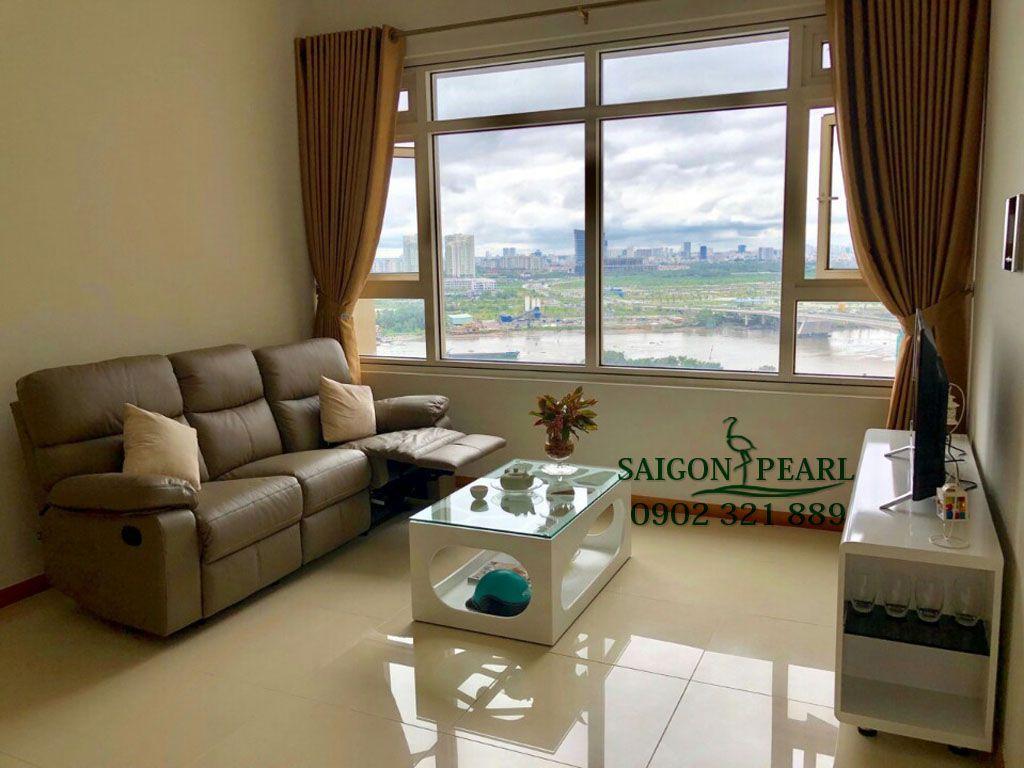 Shapphire 1 Saigon Pearl cho thuê căn hộ 2PN nội thất mới 1100$ - hinh 2