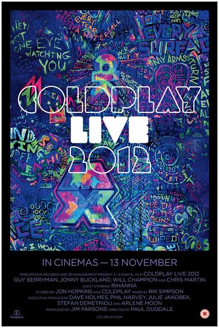 "Coldplay ""Live 2012"" poderá ser visto nos cinemas"