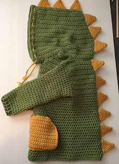 Dinosaur Hooded Sweater with Spikes