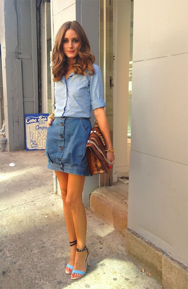 {style inspiration : denim when the leaves are falling}