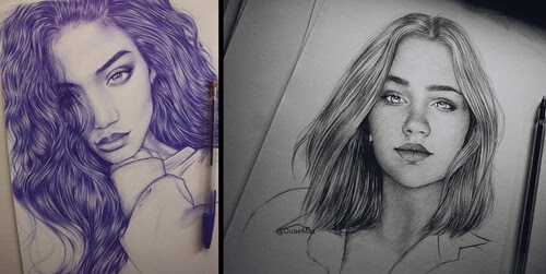 00-Duae-Maz-Blue-and-Black-Ballpoint-Pen-Portraits-www-designstack-co