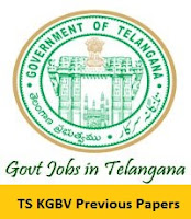 TS KGBV Contract Resident Teacher Previous Papers
