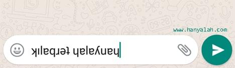 Cara Bikin Huruf di WhatsApp Jadi Terbalik