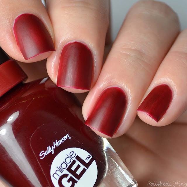 deep red matte nail polish