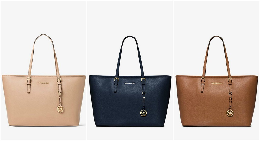 Michael Kors: Jet Set Travel Medium Saffiano Leather Top-Zip Totes 60% Off + Free Shipping!
