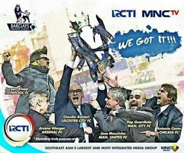 RCTI dan MNC Siarkan Liga Inggris Musim 2016-17