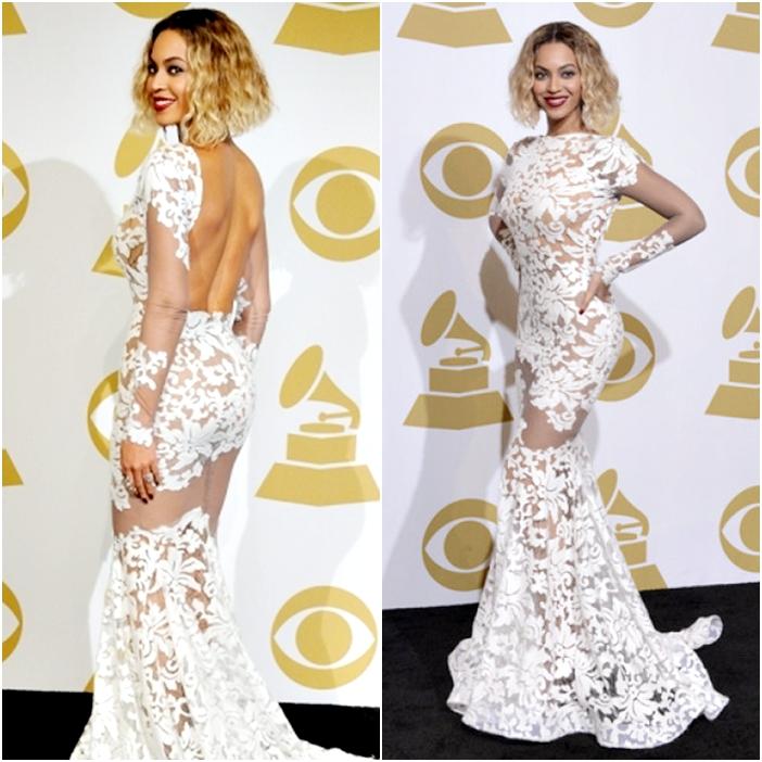 Vestido Beyoncé Gala Grammys 2014