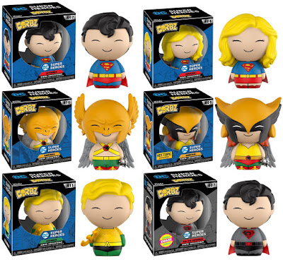DC Comics Universe Dorbz Series 2 Vinyl Figures by Funko – Superman, Supergirl, Hawkman, Hawkgirl, Aquaman & Red Son Superman