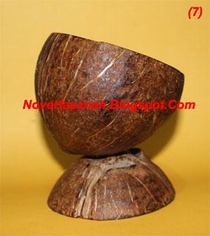 langkah-langkah dan cara membuat kerajinan tangan wadah multigunan dari batok (tempurung) kelapa yang sangat mudah untuk anak-anak 9