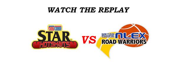 List of Replay Videos Star Hotshots vs NLEX @ Smart Araneta Coliseum August 12, 2016