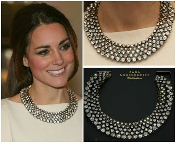 Kate Middleton effortlessly paired this modestly priced jewellery with her designer gown by Roland Mouret.