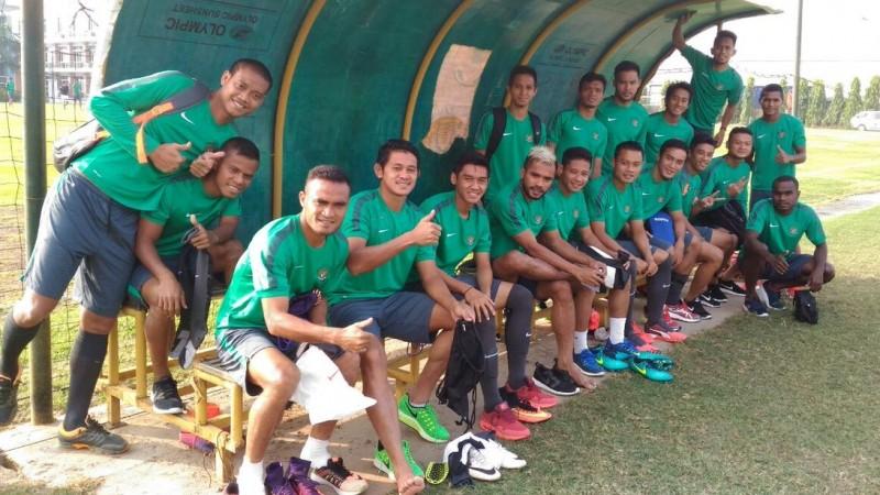 Timnas Indonesia melakukan latihan di Hanoi, Vietnam