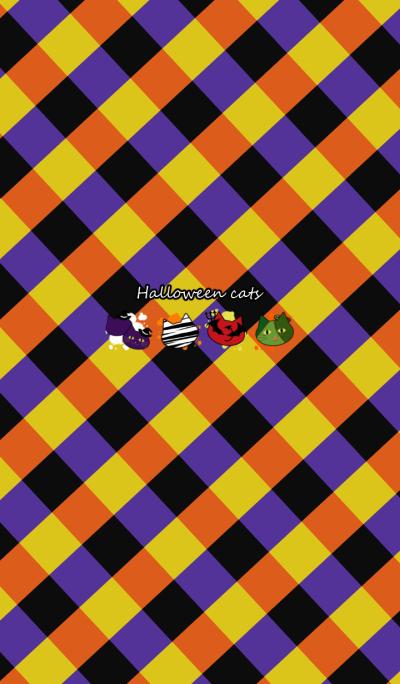 Halloween cats -Retro pop style-