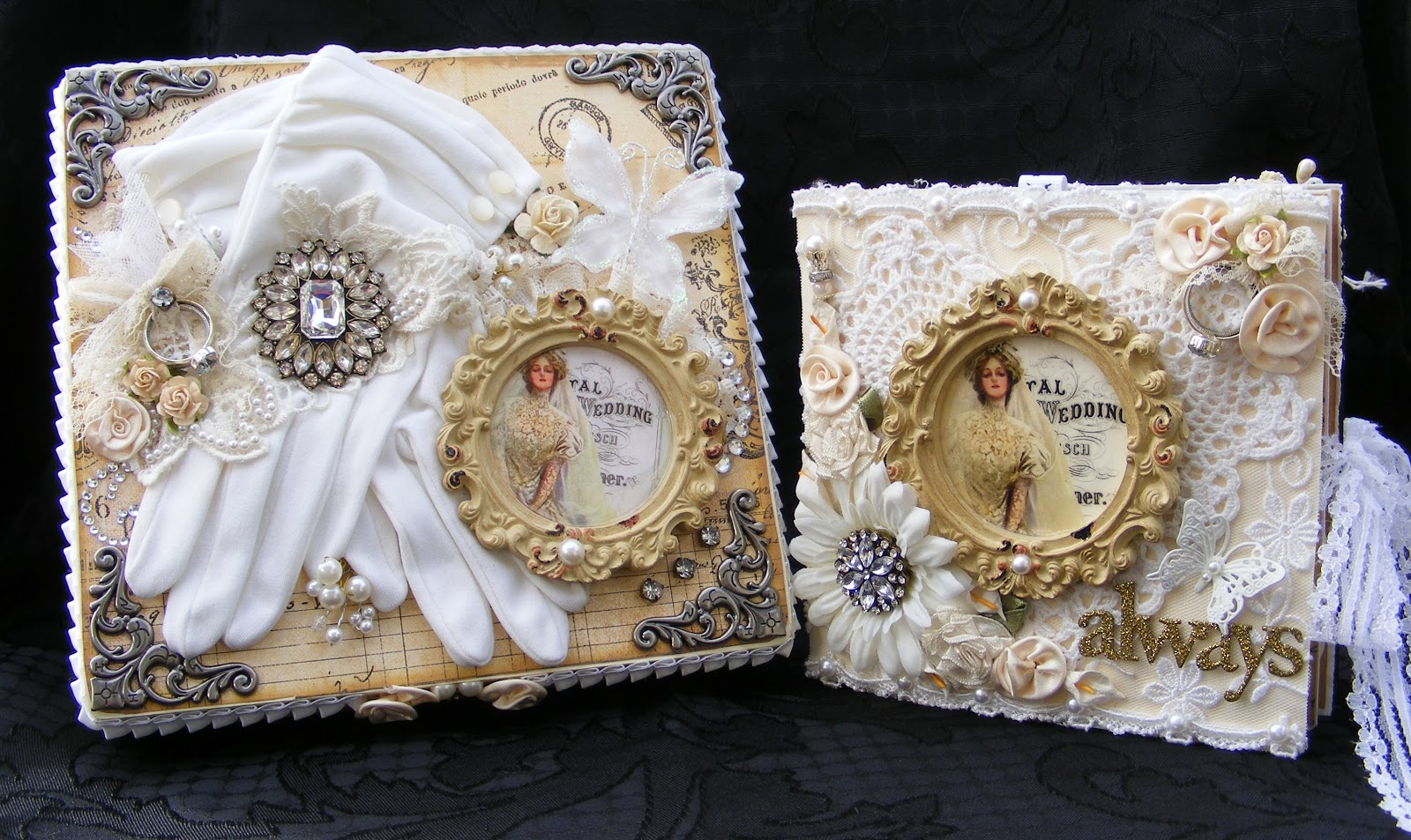 Vintage Style Wedding Al And Keepsake Box
