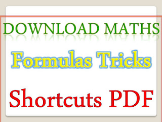 Maths Formulas Tricks Shortcuts