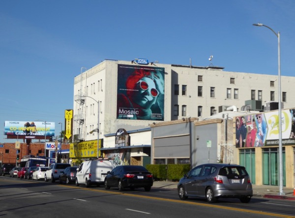 Mosaic HBO series billboard