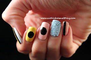 Liquorice Allsorts nail art textured nails