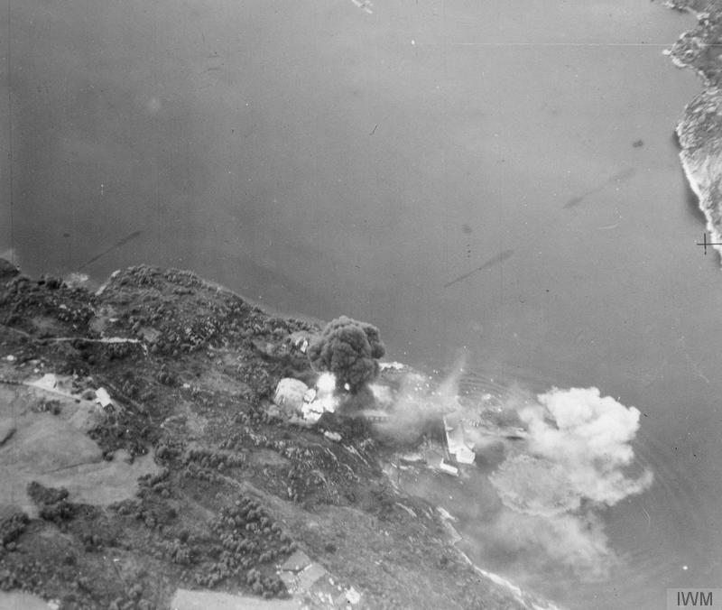 7 August 1940 worldwartwo.filminspector.com Fleet Air Arm Dolvik Bergen raid