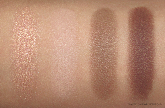 Teeez Cosmetics To Die For Eyeshadow Quad Cinnamon Revolution Swatch