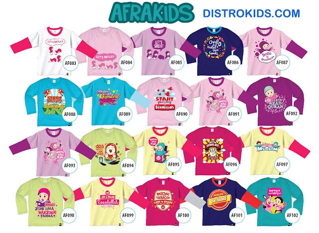 Model Baju Muslim Anak Afrakids, Koleksi Baju Muslim Anak, Afra Kids Model Baju
