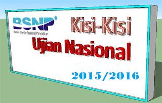 kisi-kisi UN 2015-2016