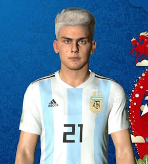 PES 2018 Faces Paulo Dybala by Ben Hossam FaceMaker