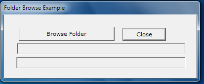 Folder Browser Dialog Example