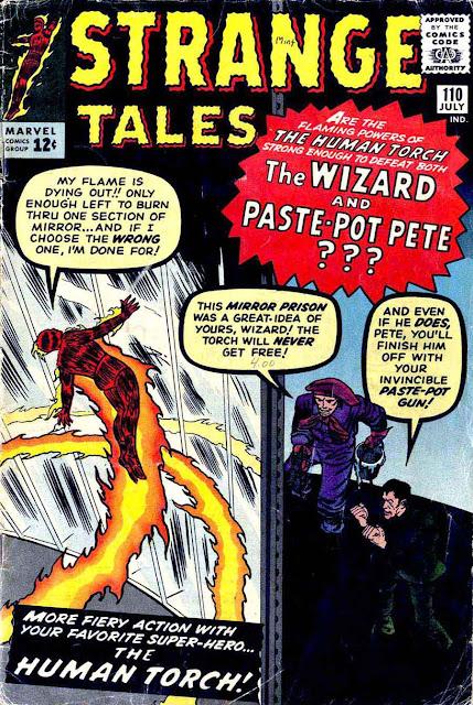 Strange Tales v1 #110, 1963 - 1st Doctor Strange, Marvel silver age comic book cover