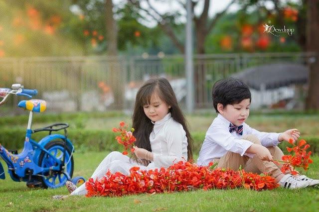 Hình ảnh kỉ yếu mẫu giáo bé Phương Ly cực dễ thương