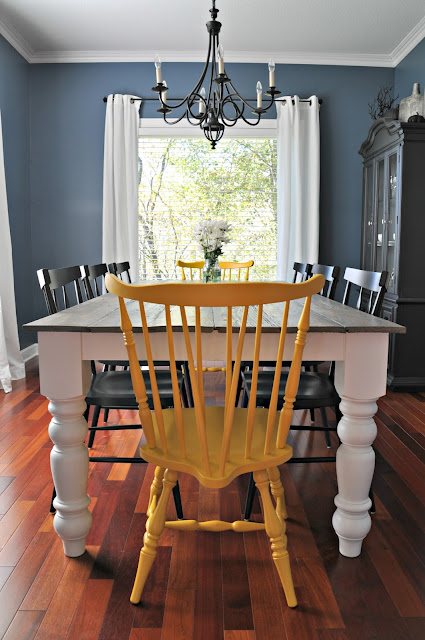 DIY dining room farmhouse table