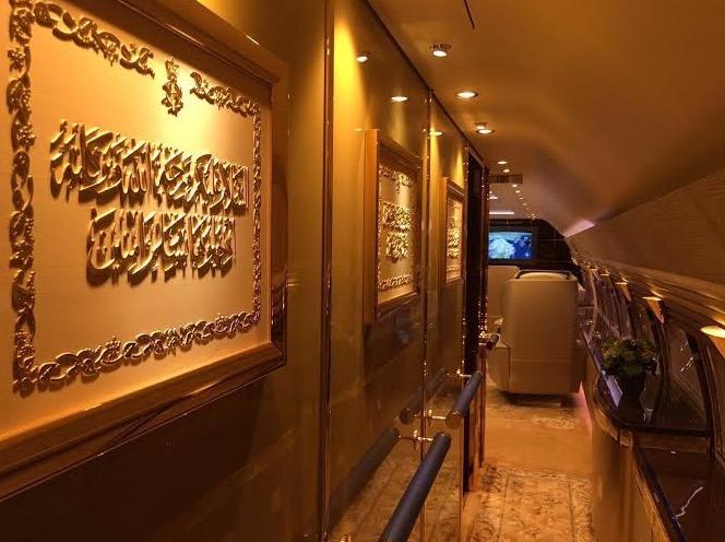 Beginilah Rupa Dalaman Pesawat Emas Sultan Johor