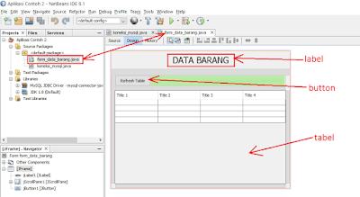 4 - Tutorial Java Netbeans – Cara Gampang Menampilkan Data Yang Ada Di Database Mysql