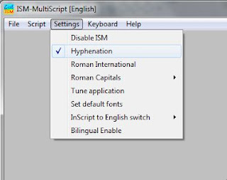 ISM Malayalam Configuration