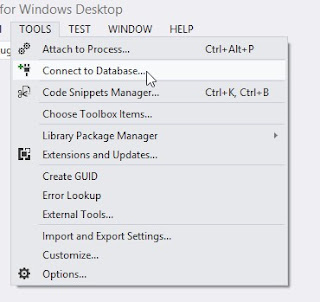 Visual Studio Tools Connect to Database