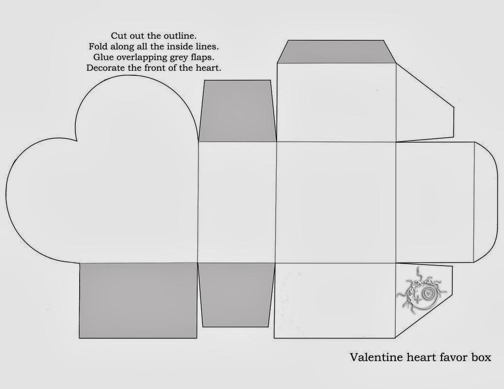 Cajas con forma de Corazón para Imprimir Gratis. | Ideas y material ...
