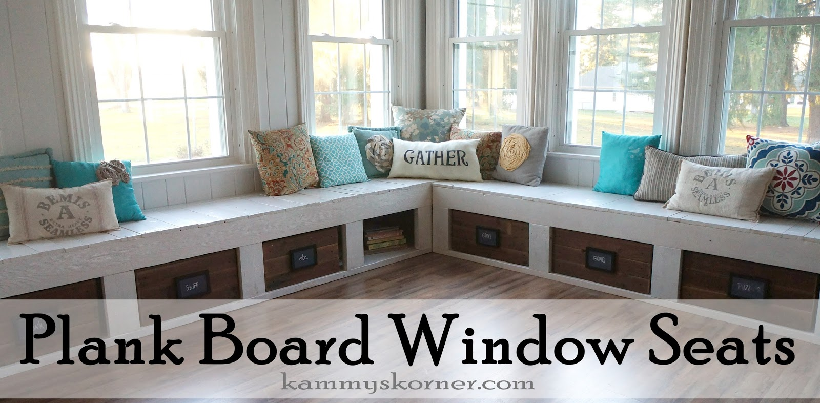 Kammy S Korner One Of A Kind Window Seats From A Planked