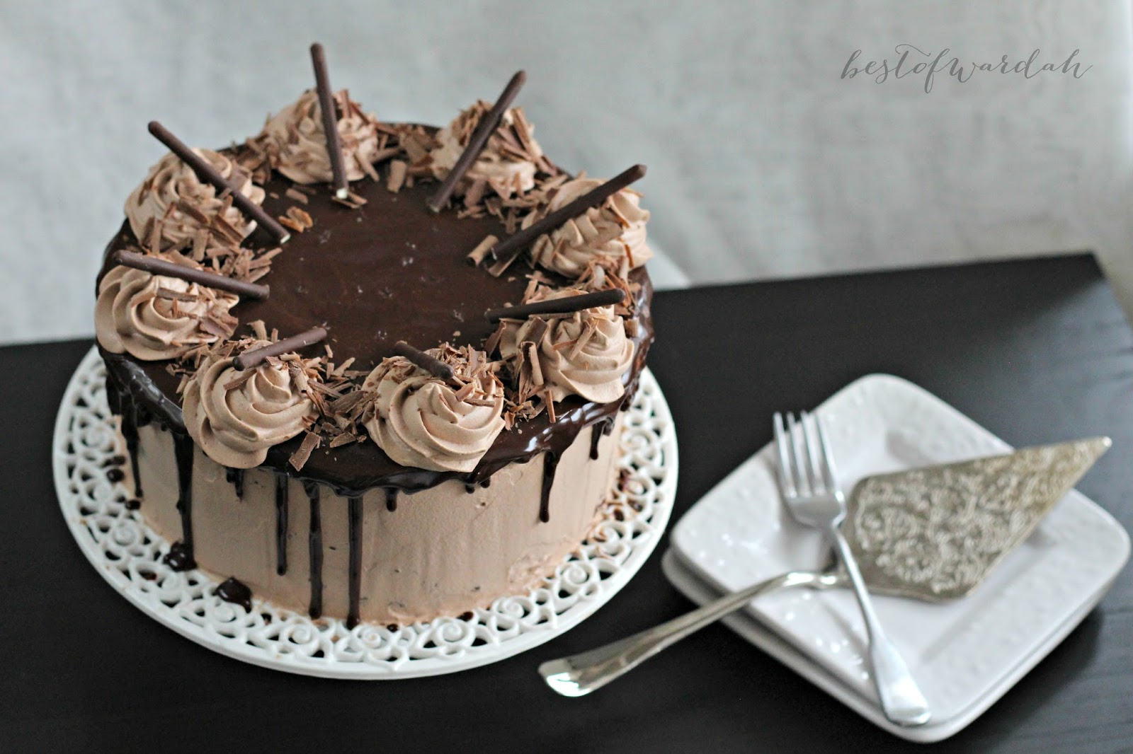 Triple Layer Chocolate And Mousse Cake Best Of Wardah