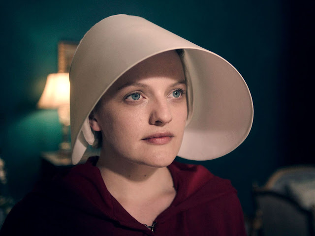 "Elisabeth Moss in ""The Handmaid's Tale"""