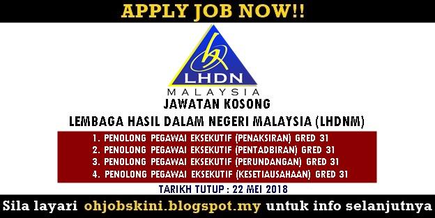 Jawatan Kosong Lembaga Hasil Dalam Negeri Malaysia (LHDNM)