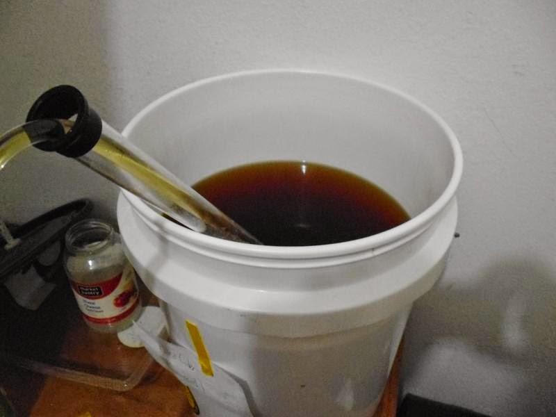 Siphoning out of secondary fermenter